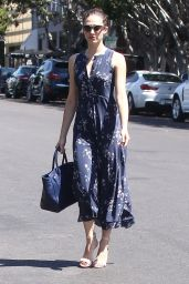 Emmy Rossum in Summer Dress - Out in West Hollywood, August 2015