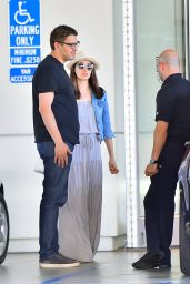 Emmy Rossum Shoping for a New BMW in Beverly Hills, August 2015