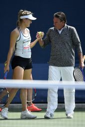 Eugenie Bouchard - Practice at the US Open in New York, August 2015
