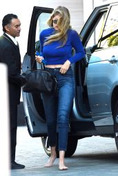 Gigi Hadid in Jeans - Out in Los Angeles, August 2015
