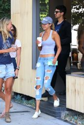 Gigi Hadid in Ripped Jeans - Out in West Hollywood, August 2015
