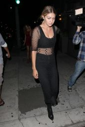 Gigi Hadid Night Out Style - Leaving Toca Madera Restaurant in West Hollywood, July 2015
