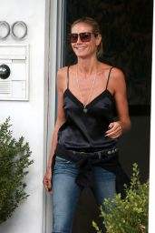 Heidi Klum Casual Stule - Out in New York, August 2015