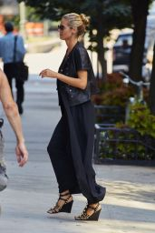 Heidi Klum Departing Her Residence in the West Village Neightborhood of New York, August 2015