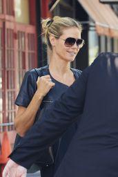 Heidi Klum Departing Her Residence in the West Village Neightborhood of New York, August 2015