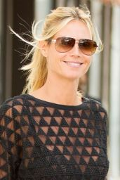 Heidi Klum - Leaving Her Apartment in NYC, August 2015
