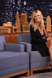 Heidi Klum on The Tonight Show With Jimmy Fallon in NYC, August 2015