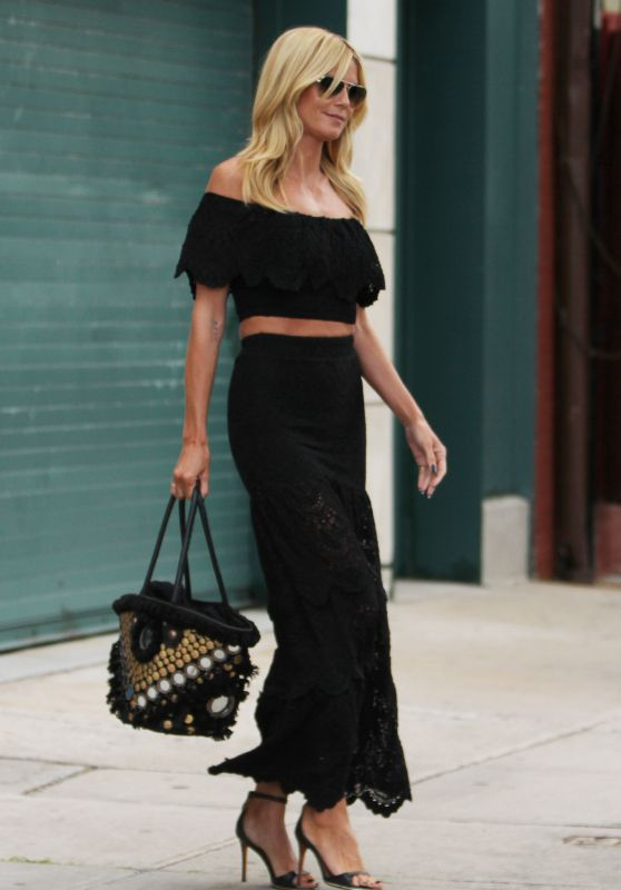 Heidi Klum Steps out in New York City, August 2015