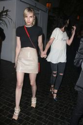 Hilary Duff and Emma Roberts – Leaving the Chateau Marmont in West Hollywood, August 2015
