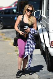 Hilary Duff at a Gym in West Hollywood, August 2015