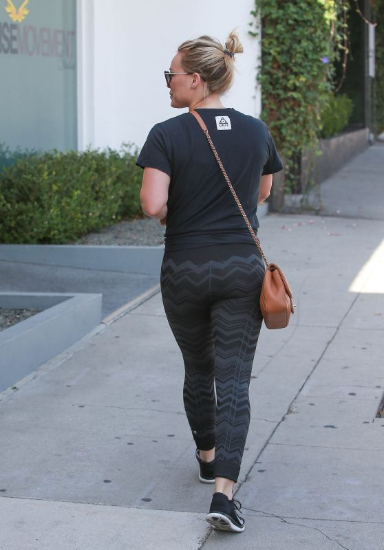 Hilary Duff in Tights - Out in West Hollywood, August 2015