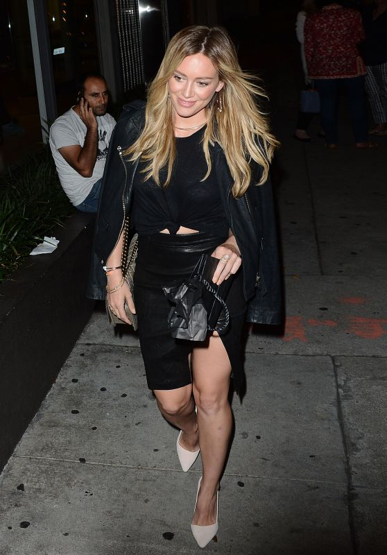 Hilary Duff - Leather and Heels at Craig