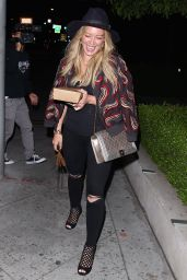 Hilary Duff Night Out Style - Leaving Zinque in West Hollywood, July 2015