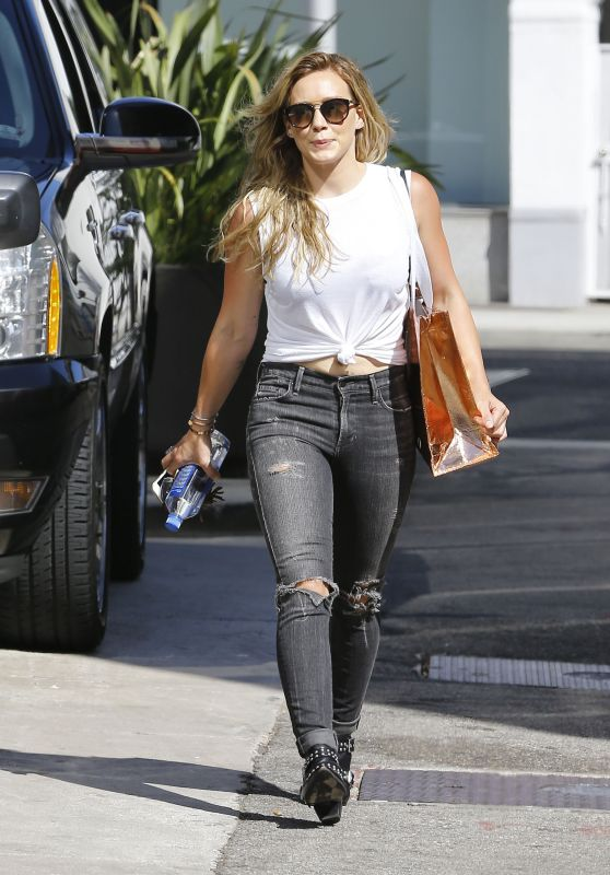 Hilary Duff Street Style - Out in Beverly Hills, August 2015