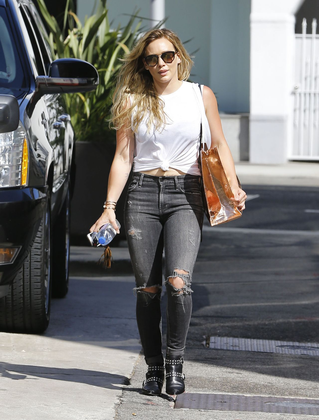 Hilary duff street style out in beverly hills august 2015 Fashion celebrity street style