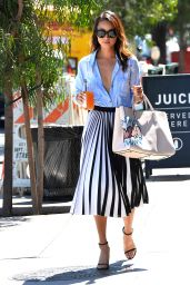 Jamie Chung Style - Leaving Clover Juice in West Hollywood, August 2015