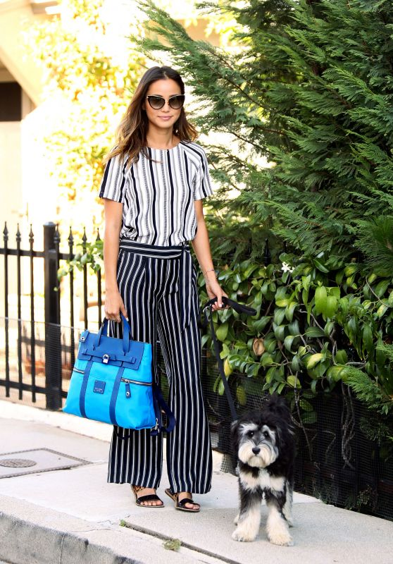 Jamie Chung - Walking Her Dog in Sherman Oaks, August 2015