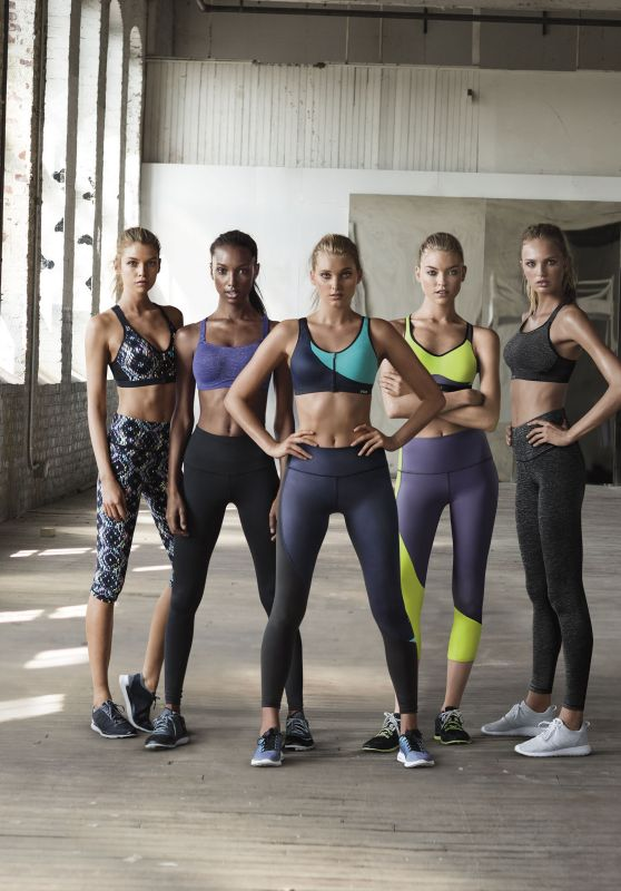 Jasmine Tookes, Martha Hunt, Stella Maxwell, Elsa Hosk and Romee Strijd - Victoria's Secret Angels @ Fall 2015 Sportswear Collection