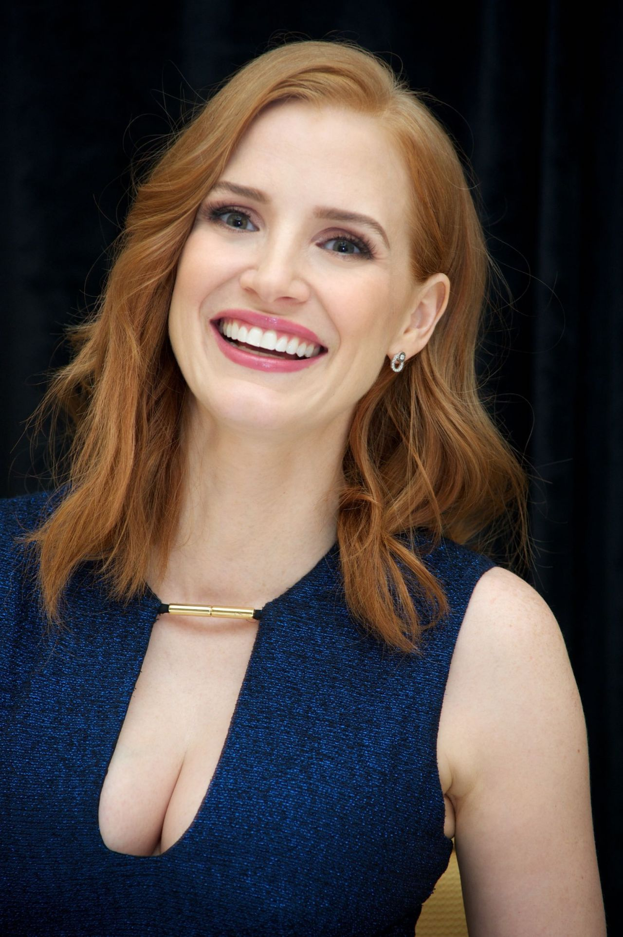 Jessica Chastain - 'The Martian' Press Conference at the ... Jessica Chastain