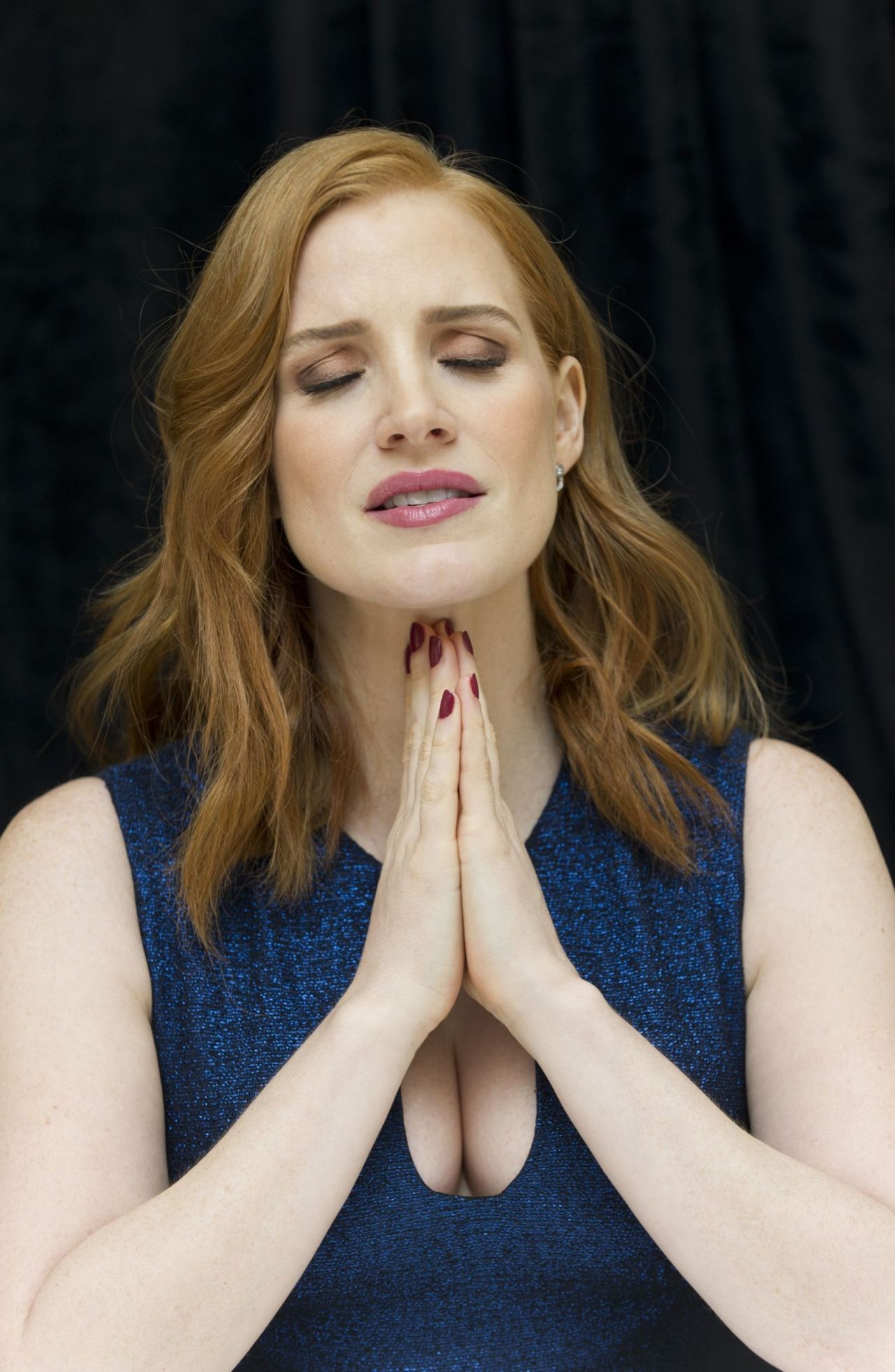 Jessica Chastain The Martian Press Conference At The