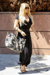Jessica Simpson Casual Style - Out and About in Beverly Hills, August 2015