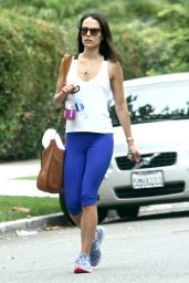 Jordana Brewster - Going to a Gym in West Hollywood, August 2015