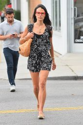 Jordana Brewster Leggy in Mini Dress - Out in West Hollywood, August 2015