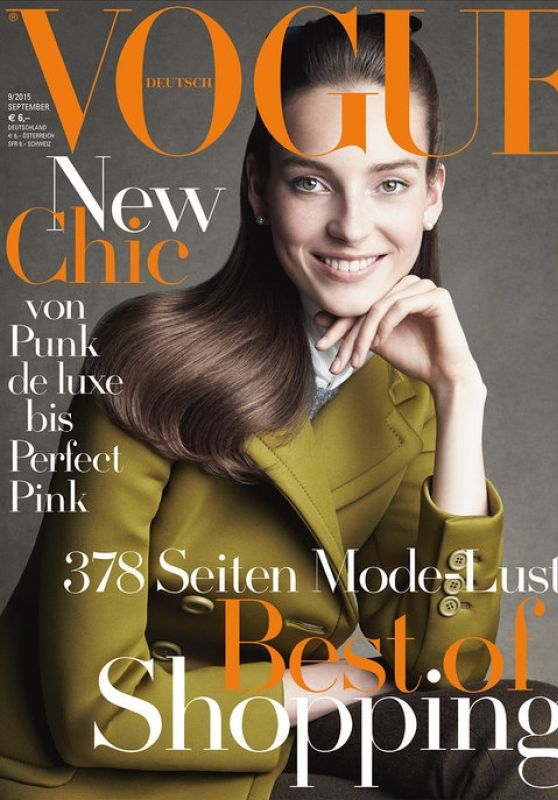 Julia Bergshoeff - Vogue Magazine Germany September 2015 Cover