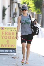 Kaley Cuoco Leaving a Yoga Class in Sherman Oaks, August 2015