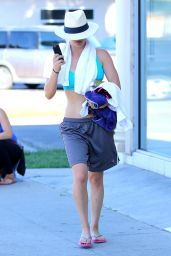 Kaley Cuoco - Leaving Yoga Class in Studio City, August 2015