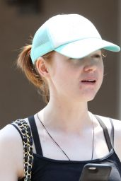 Karen Gillan in Tights at the Gym in West Hollywood, August 2015