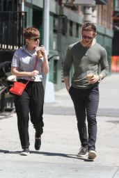Kate Mara & Jamie Bell - Out and About in NYC, August 2015