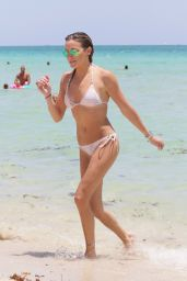 Katie Cassidy Bikini Pics - On the Beach in Miami, August 2015