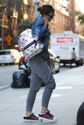 Katie Holmes Street Style - Out in Manhattan, August 2015