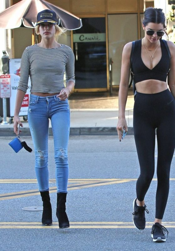 Kendall Jenner and Hailey Baldwin - Out for Lunch in Beverly Hills, August 2015