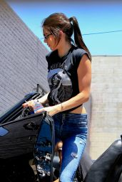 Kendall Jenner Driving in Beverly Hills, August 2015