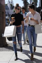 Kendall Jenner & Gigi Hadid Casual Style - Out and About in Beverly Hills, July 2015