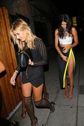 Kendall Jenner & Hailey Baldwin - Arriving at The Nice Guy in Hollywood, August 2015