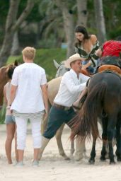Kendall Jenner Horseback in Punta Mita, Mexico, August 2015