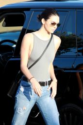 Kendall Jenner in Ripped Jeans - Out in Malibu, August 2015
