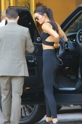 Kendall Jenner in Tights - Heading to Sugarfish in Calabasas, August 2015