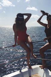 Kendall Jenner & Khloe Kardashian - On a Boat - Instagram Pics, August 2015