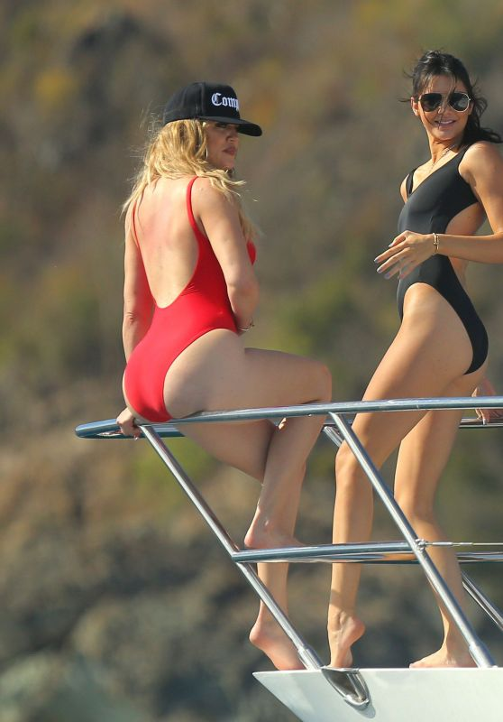 Kendall Jenner & Khloe Kardashian - Swimsuits Pics - St Barts, August 2015