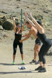 Khloe, Kourtney & Kim Kardashian - Workout in St. Barts, August 2015