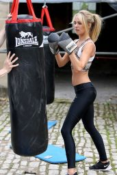 Kimberley Garner Working out in Somerset, August 2015