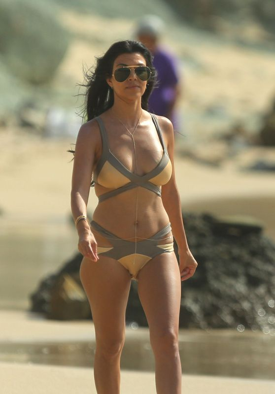 Kourtney Kardashian Bikini Pics - on Vacation at the Beach in St. Barts - August 2015