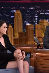 Kristen Stewart at The Tonight Show with Jimmy Fallon in New York City, August 2015