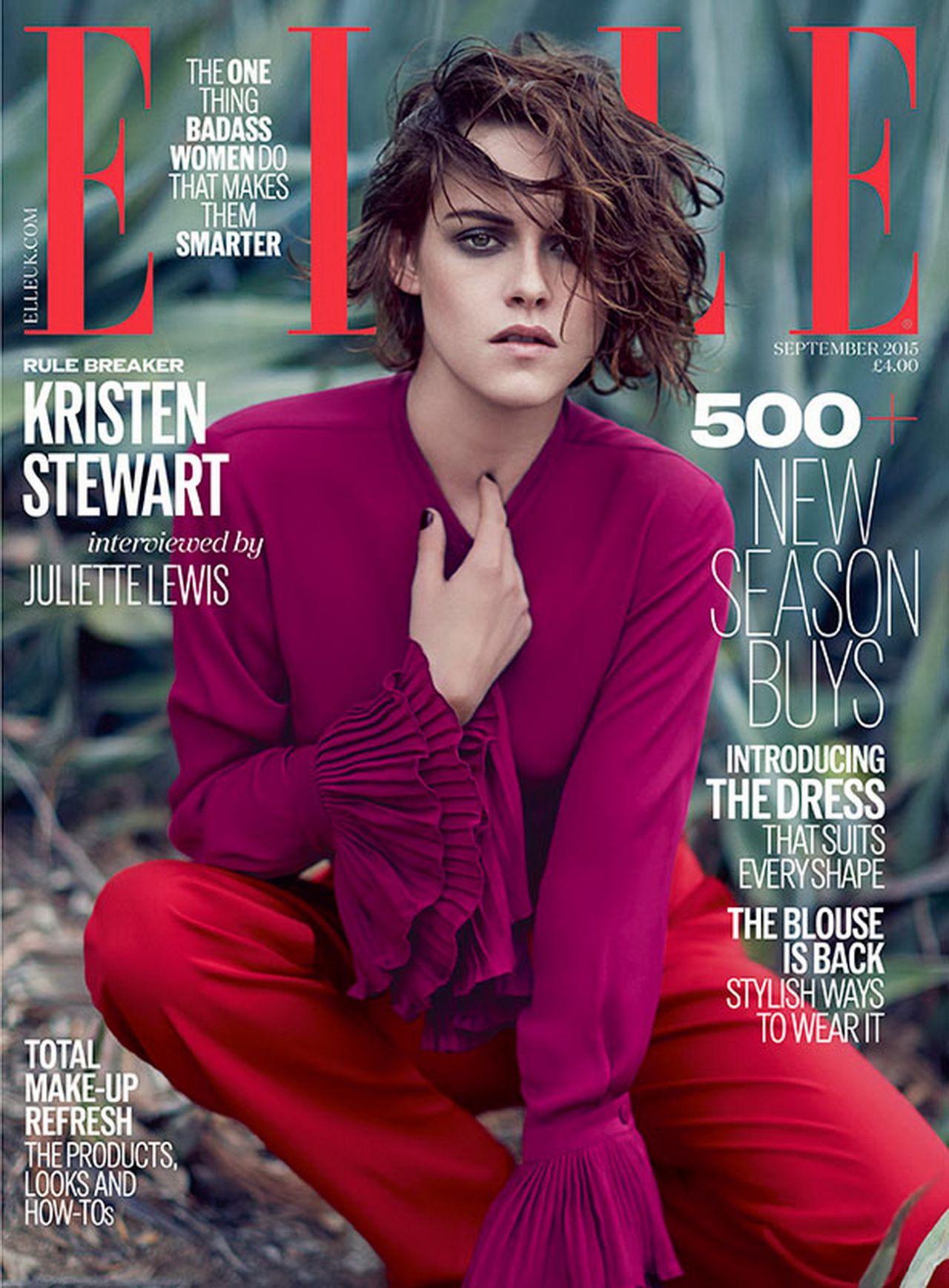 Kristen Stewart Elle Magazine Uk September 2015 Cover