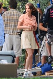 Kristen Stewart on the Set of a New Woody Allen Movie in Los Angeles, August 2015