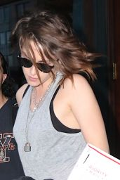 Kristen Stewart - Outside Her Hotel in New York City, August 2015